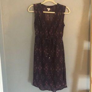 Merona purple chiffon sundress with slip